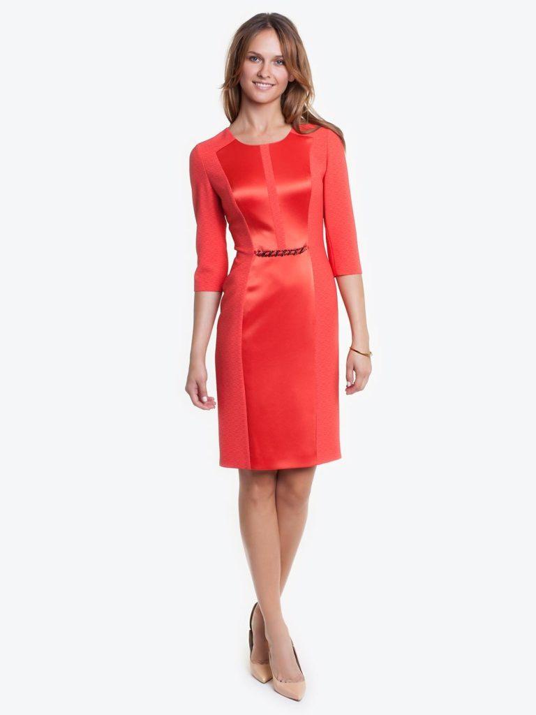 Elegancka czerwona sukienka JANA Potis&Verso