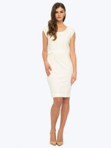Biała ołówkowa sukienka DIANA L'AF