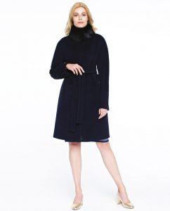 Czarny płaszcz GUESS Potis&verso