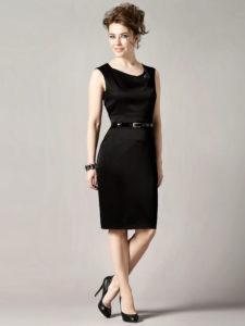 Czarna elegancka sukienka oklasycznym kroju - ANGELINA odPotis&Verso