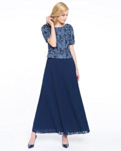 Granatowa sukienka SETA odPotis&Verso - trendy modowe nanajbliższy sezon