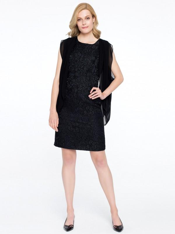 Czarna sukienka VENEZIA Potis&Verso zkryształkami Swarovskiego