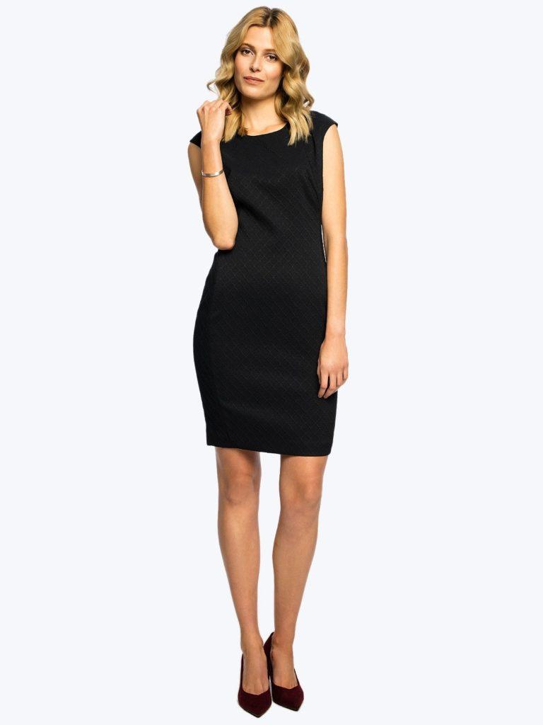 Żakardowa sukienka JUSTI B Potis&Verso - sukienka mała czarna