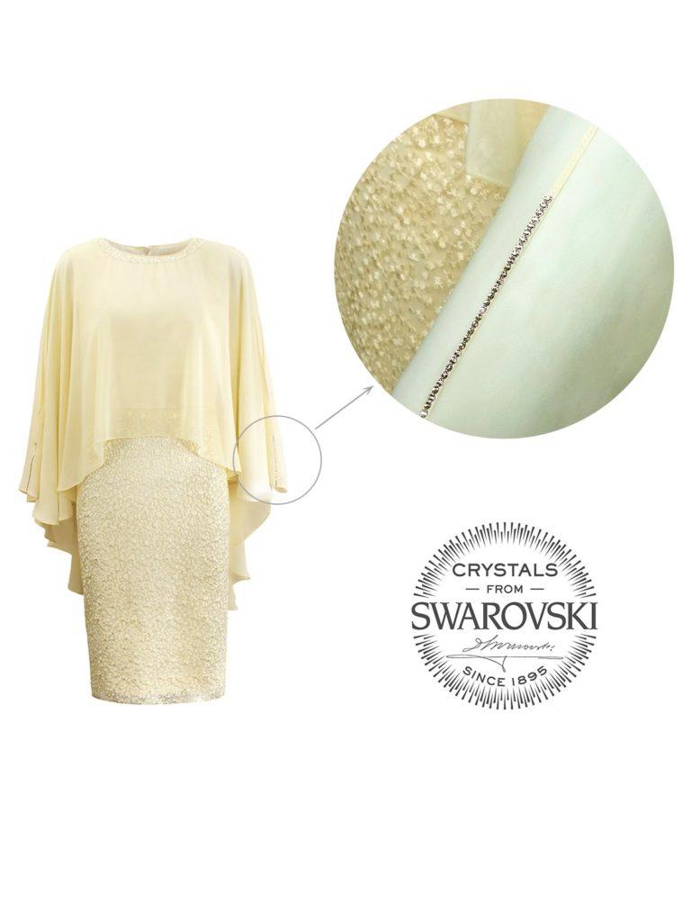 Sukienka zkryształkami Swarovskiego Nessi odL'AF