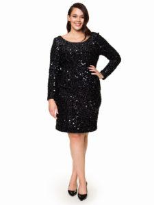 Sukienka ARLINGTON Potis&Verso - sukienka błyszcząca, cekinowa.