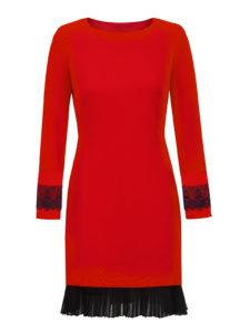 Czerwona sukienka ROSE odmarki L'AF - trendy modowe