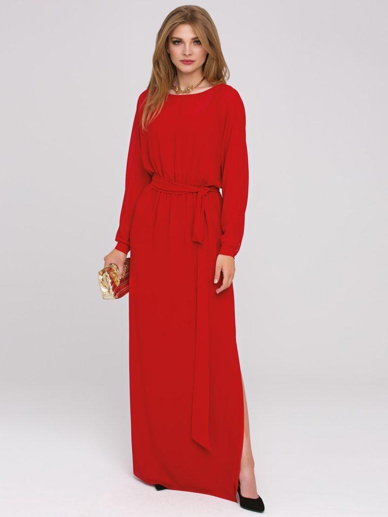 Czerwona długa sukienka RUBIN odL'AF