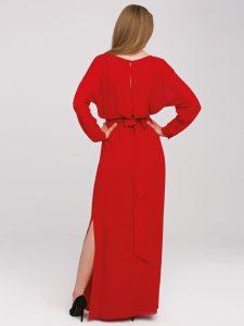 Czerwona długa sukienka RUBIN odL'AF trendy wsukienkach