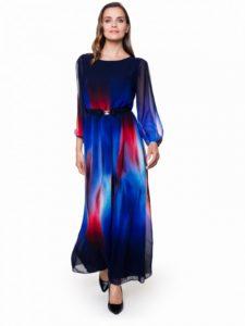 Kolorowa sukienka LORE od L'AF - kolory kosmosu - trendy