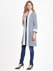 Sweter WELL marki L'AF - sweter zdodatkiem moheru, sweter zamiast płaszcza