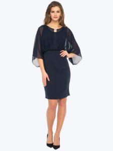 Sukienka FLESH L'AF - granatowa sukienka elegancka