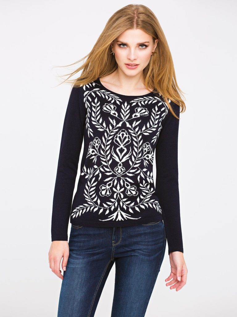 Sweter FROZEN L'AF wstylu vintage