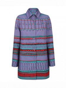 Fioletowy płaszcz SARA L'AF