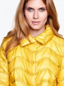 Żółta pikowana kurtka TOBI L'AF