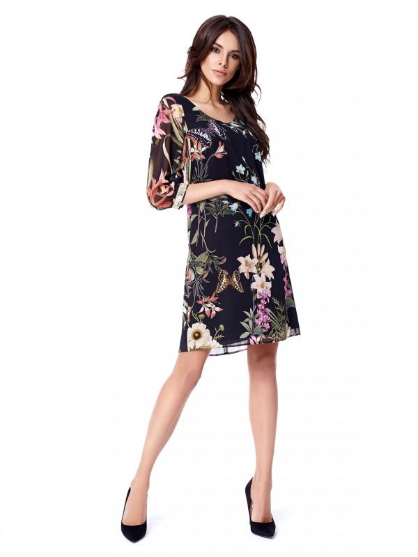Sukienka wkwiatowy print potis & verso lebanon