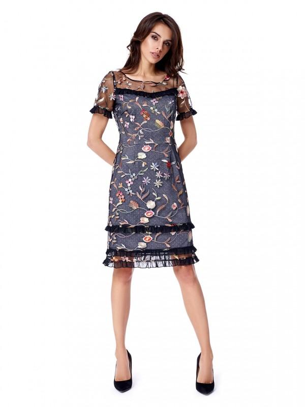 Finezyjna sukienka zkwiatami potis & verso florence