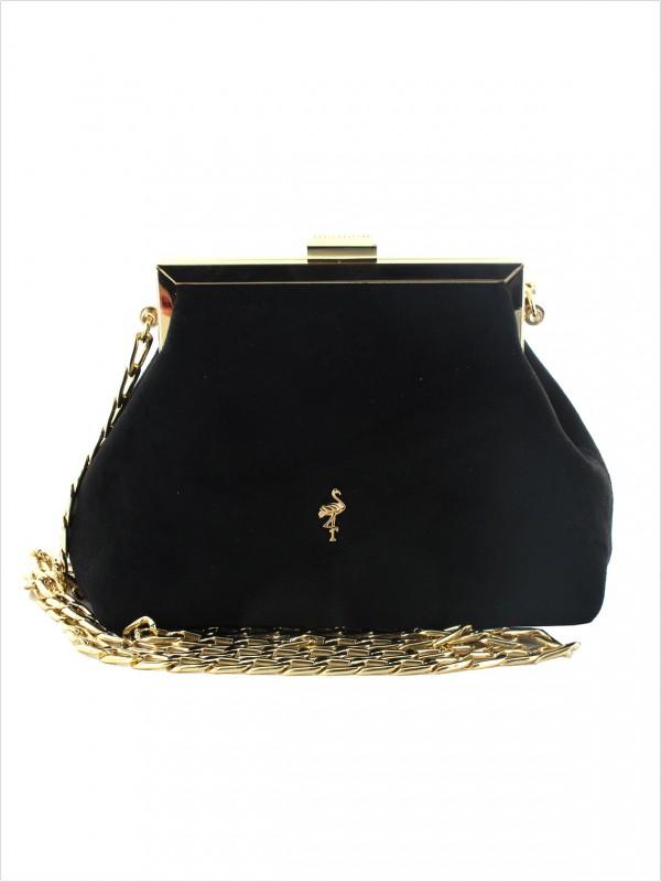 Wizytowa torebka kopertówka czarna Menbur